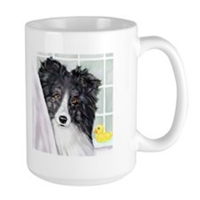 Bi Black Sheltie Bath Mug