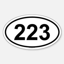 223 Oval Bumper Stickers