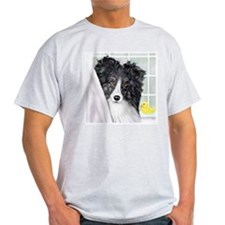 Bi Black Sheltie Bath T-Shirt