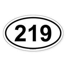 219 Oval Decal