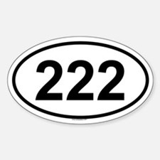 222 Oval Decal
