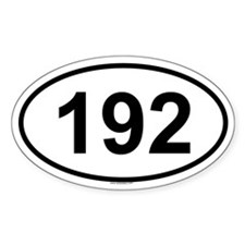 192 Oval Decal