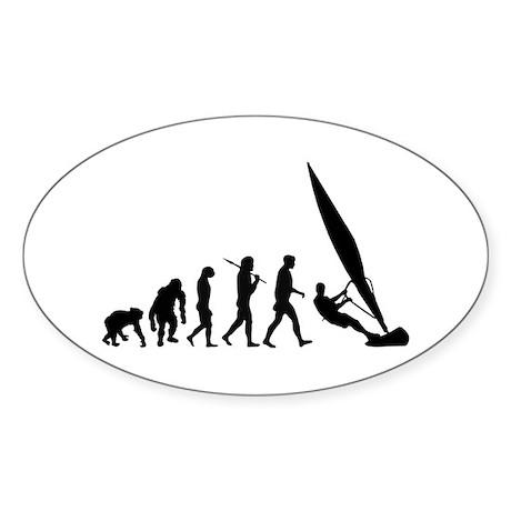 Windsurfers windsurfing Oval Sticker