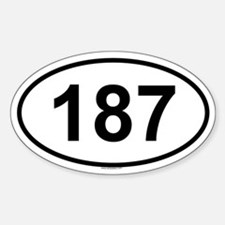 187 Oval Decal