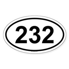 232 Oval Decal