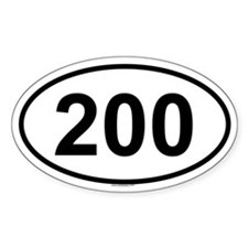 200 Oval Decal