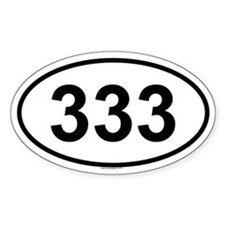333 Oval Decal