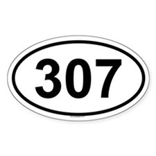 307 Oval Decal