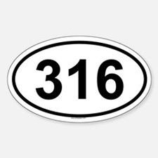 316 Oval Decal