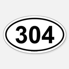 304 Oval Decal