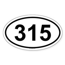 315 Oval Decal