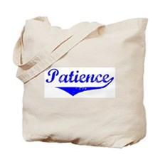 Patience Vintage (Blue) Tote Bag