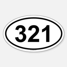 321 Oval Decal