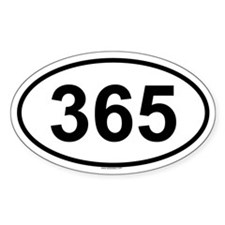 365 Oval Decal