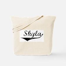 Skyla Vintage (Black) Tote Bag