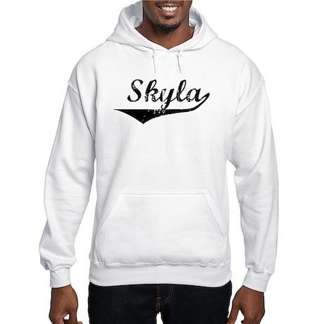 Skyla Vintage (Black) Hooded Sweatshirt