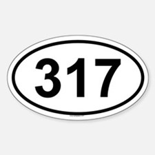 317 Oval Decal