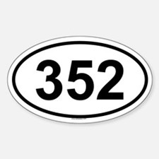 352 Oval Decal