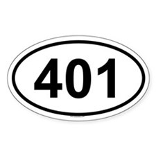401 Oval Decal