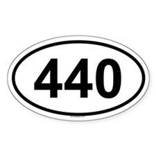 440 Oval Decal