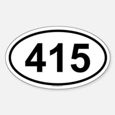 415 Oval Decal