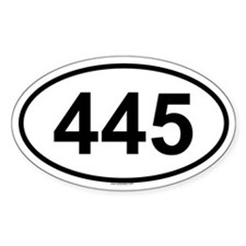 445 Oval Decal