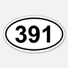 391 Oval Decal