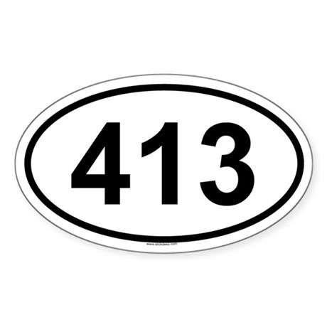 413 Oval Sticker