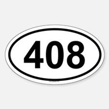 408 Oval Decal