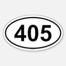 405 Oval Bumper Stickers