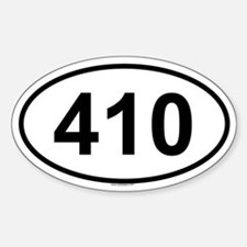 410 Oval Decal