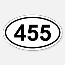 455 Oval Bumper Stickers