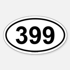 399 Oval Decal