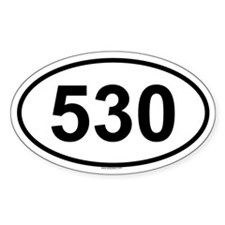 530 Oval Decal