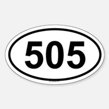 505 Oval Decal
