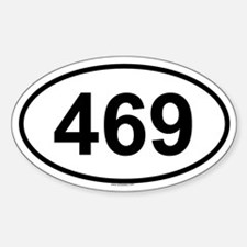 469 Oval Decal