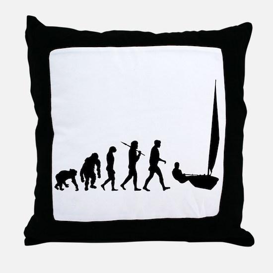 Sailing Evolution Throw Pillow