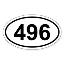 496 Oval Decal