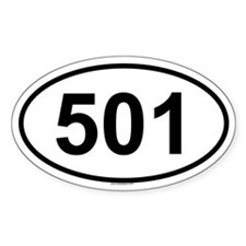 501 Oval Decal