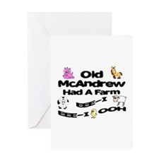 Old McAndrew Had a Farm Greeting Card