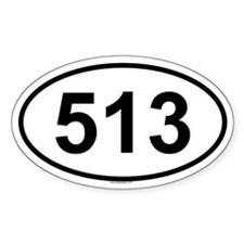 513 Oval Decal