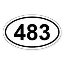 483 Oval Decal
