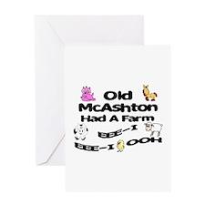 Old McAshton Had a Farm Greeting Card