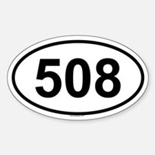 508 Oval Bumper Stickers