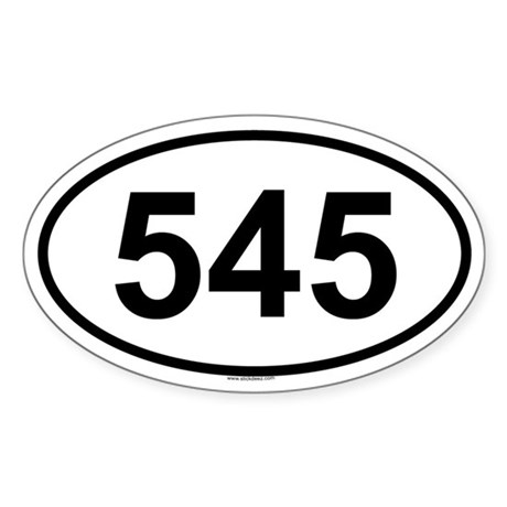 545 Oval Sticker