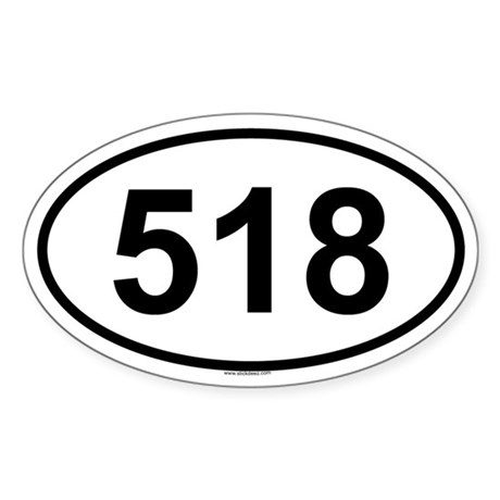518 Oval Sticker