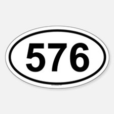 576 Oval Decal