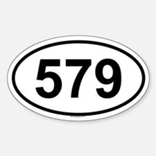 579 Oval Decal