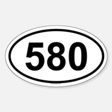 580 Oval Decal