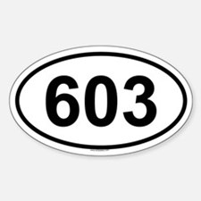 603 Oval Bumper Stickers